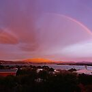 Sunrise rainbow over Hobart by PC1134
