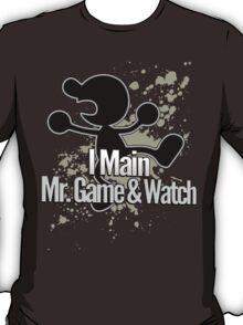 I Main Mr. Game & Watch - Super Smash Bros. T-Shirt