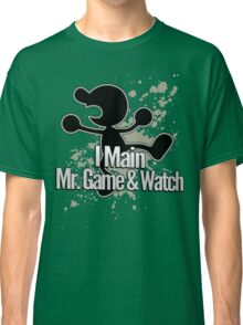I Main Mr. Game & Watch - Super Smash Bros. Classic T-Shirt