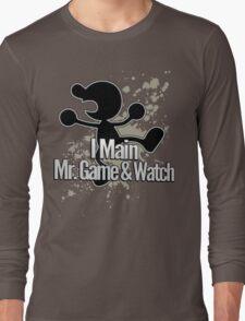 I Main Mr. Game & Watch - Super Smash Bros. Long Sleeve T-Shirt