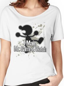 I Main Mr. Game & Watch - Super Smash Bros. Women's Relaxed Fit T-Shirt