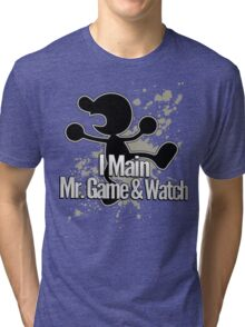 I Main Mr. Game & Watch - Super Smash Bros. Tri-blend T-Shirt