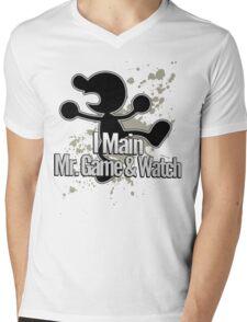 I Main Mr. Game & Watch - Super Smash Bros. Mens V-Neck T-Shirt