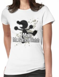 I Main Mr. Game & Watch - Super Smash Bros. Womens Fitted T-Shirt