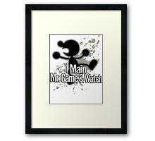 I Main Mr. Game & Watch - Super Smash Bros. Framed Print