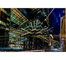 Boston city lights  Photographic Print
