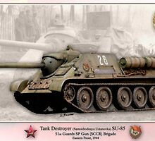 Soviet Tank Destroyer SU- 85 by A. Hermann