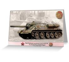 Soviet Tank Destroyer SU- 85 Greeting Card