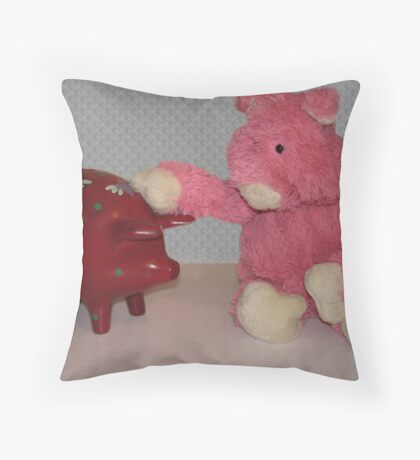 Ping Pig is confused....... Throw Pillow