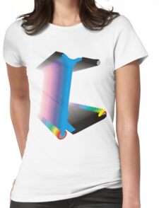 scooter blur colour Womens Fitted T-Shirt