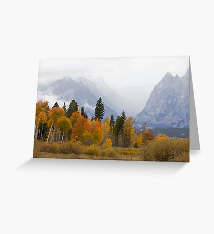 Cascade Canyon, Snow Showers & Fall Color Greeting Card