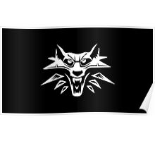 The Witcher 3: The Wild Hunt - The Wolf Medallion Emblem (Black) Poster