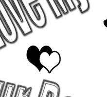I Love My Little Fur Person (Cat) Sticker