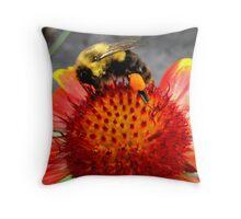 grabbing pollen Throw Pillow