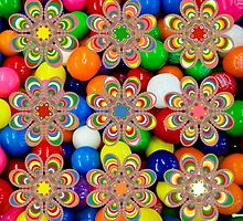 Bubble Gum Balls Foot Flowers by michaelwsf