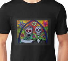 Dia De Los Muertos Skeleton Bride & Groom Unisex T-Shirt
