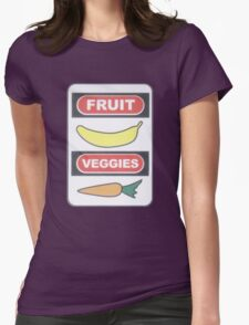 Fruit and Veggies Womens Fitted T-Shirt