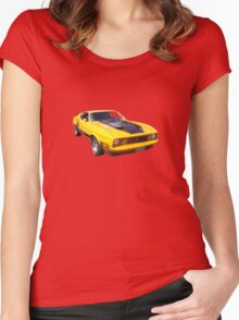 yellow car Women's Fitted Scoop T-Shirt