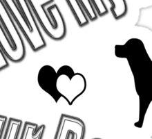 I Love My Little Fur Person (Dog) Sticker