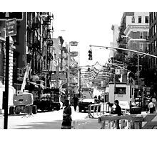Mulberry Street - San Gennaro festival Photographic Print