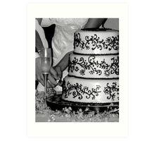 cutting the cake Art Print