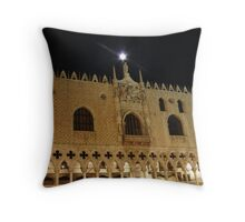 Moonlit Doge's Palace Throw Pillow