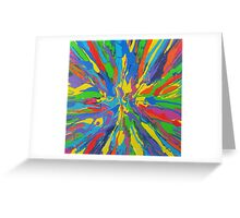 psychedelic colors Greeting Card