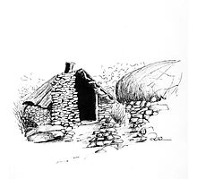 Chinese Gold Prospector's Hut Photographic Print