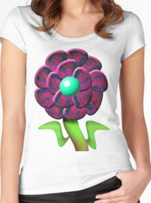 Flower Red Women's Fitted Scoop T-Shirt