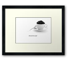 Join me for a cup? Framed Print