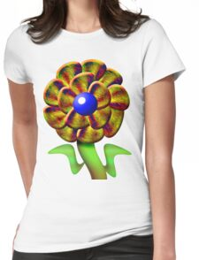 Flower Gold Womens Fitted T-Shirt