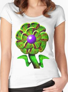 Flower Green Women's Fitted Scoop T-Shirt