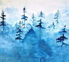 Blue Woods Duvet by Sophersgreen