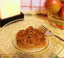 """A"" is for apple crisp, made with home grown apples by Nanagahma"
