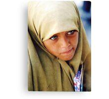 Muslim Green Eyed Giza Girl  Canvas Print