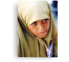 Muslim Green Eyed Giza Girl  Canvas Print