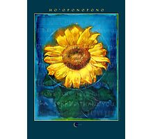 Ho'oponopono Sunflower Cleansing poster Photographic Print