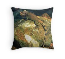 Iguana be back in St.Thomas Throw Pillow