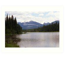 La Salle Lake & Hammer Mountain aka Boulder Mountain Art Print
