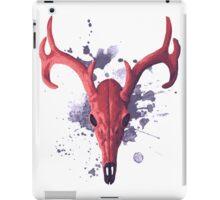 Deer (red) iPad Case/Skin