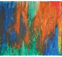 warm and cool colorful pastel painting Photographic Print