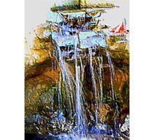 Painted Waterfall Photographic Print