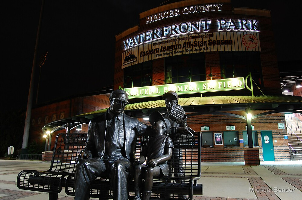 Mercer County Waterfront Park at Night by Michael Bender