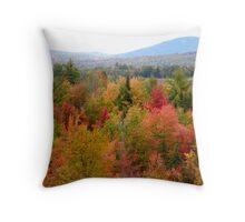 Maine Autumn Foliage Throw Pillow