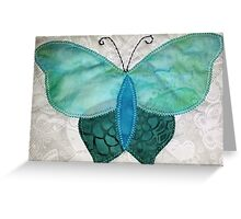 Patchwork butterfly turquoise Greeting Card