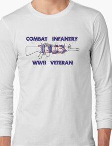 11Bravo - Combat Infantry - WWII Veteran Long Sleeve T-Shirt