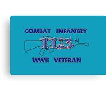 11Bravo - Combat Infantry - WWII Veteran Canvas Print