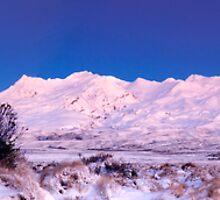 Mount Ruapehu panoramic 2 by Paul Mercer