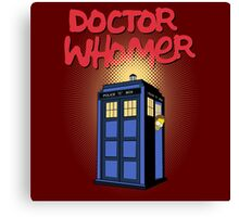 DOCTOR WHOMER Canvas Print