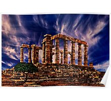Temple Of Poseidon Greek Ruins Fine Art Print Poster